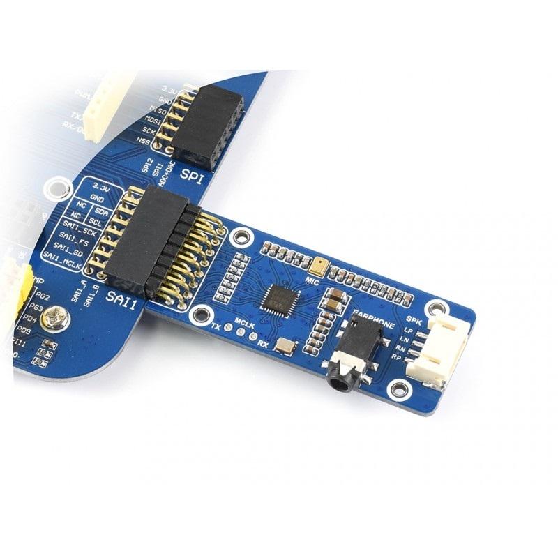 Waveshare WM8960 Stereo CODEC Audio Module, Play / Record