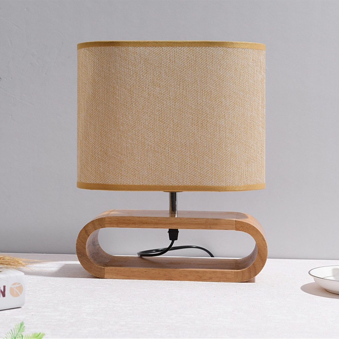 Ywxlight Nordic Led Vertical Table Lamp Bedroom Retro