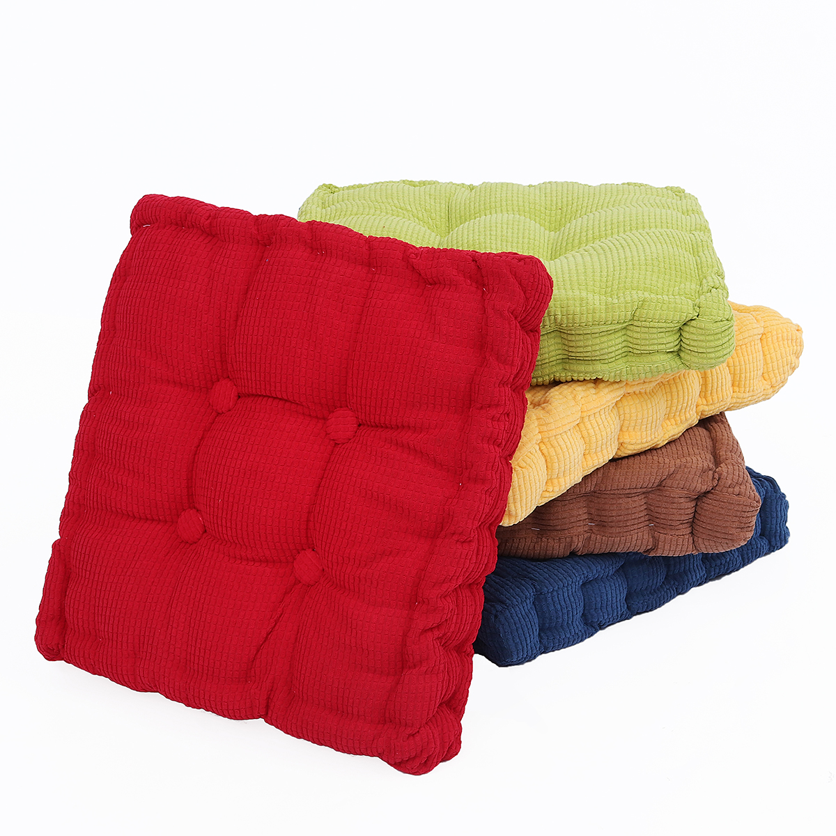 Square Corduroy Chair Pad Cushion Thicker Patio Car Office Seat Sofa Tatami Floor Mat