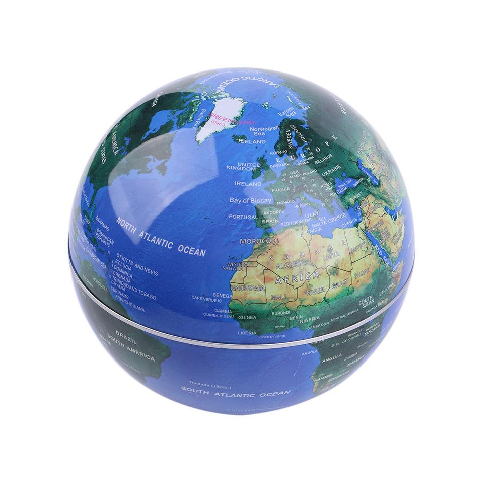 Magnetic Levitation World Globe Map Educational Floating Decor Light