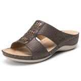 Lostisy Easy Wear Casual Peep Toe Comfy Sandals