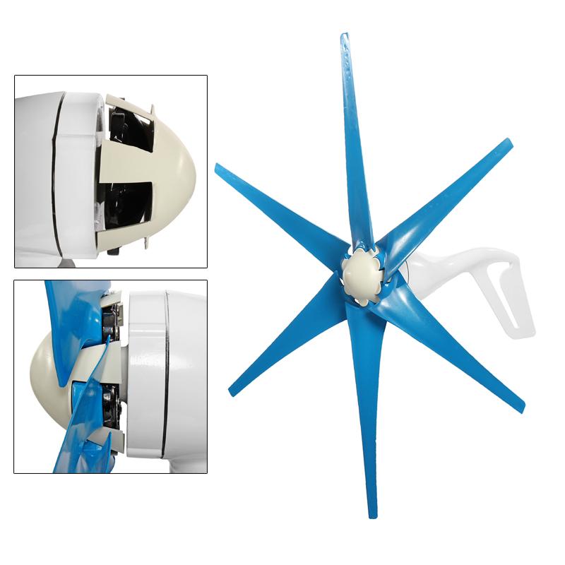 800W S3 Wind Turbine 6 Blades DC 12V/24V Wind Turbine Generator High Wind Power