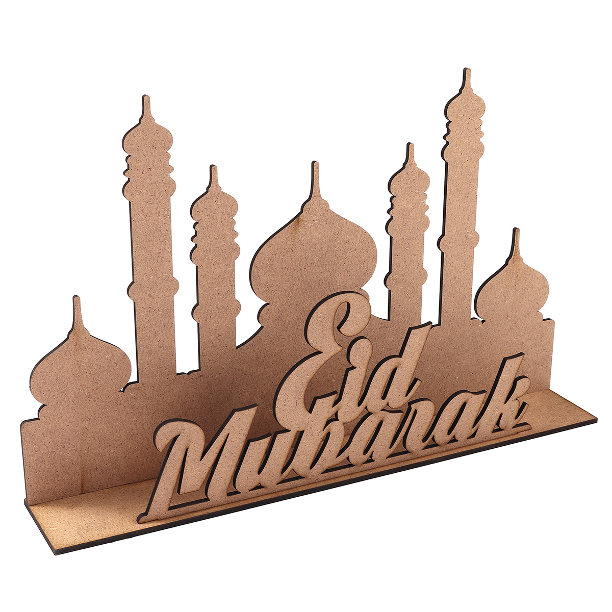 Calendar Wooden Advent Home Decor Gift Muslim Mubarak Ramadan Cloth MDF Eid