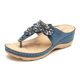 LOSTISY Women Beach Flip Flops Soft Casual Comfortable Wedge Sandals