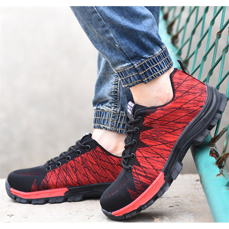 Men's Breathable Non-Slip Wear-Resistant Working Sports Safety Labor Anti-Smashing Sneakers Shoes XIAOMI