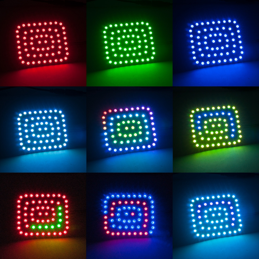 DC5V WS2812B 5050 RGB Rectangle Pixel Digital Individually Addressable  LED Module Strip Light DC5V
