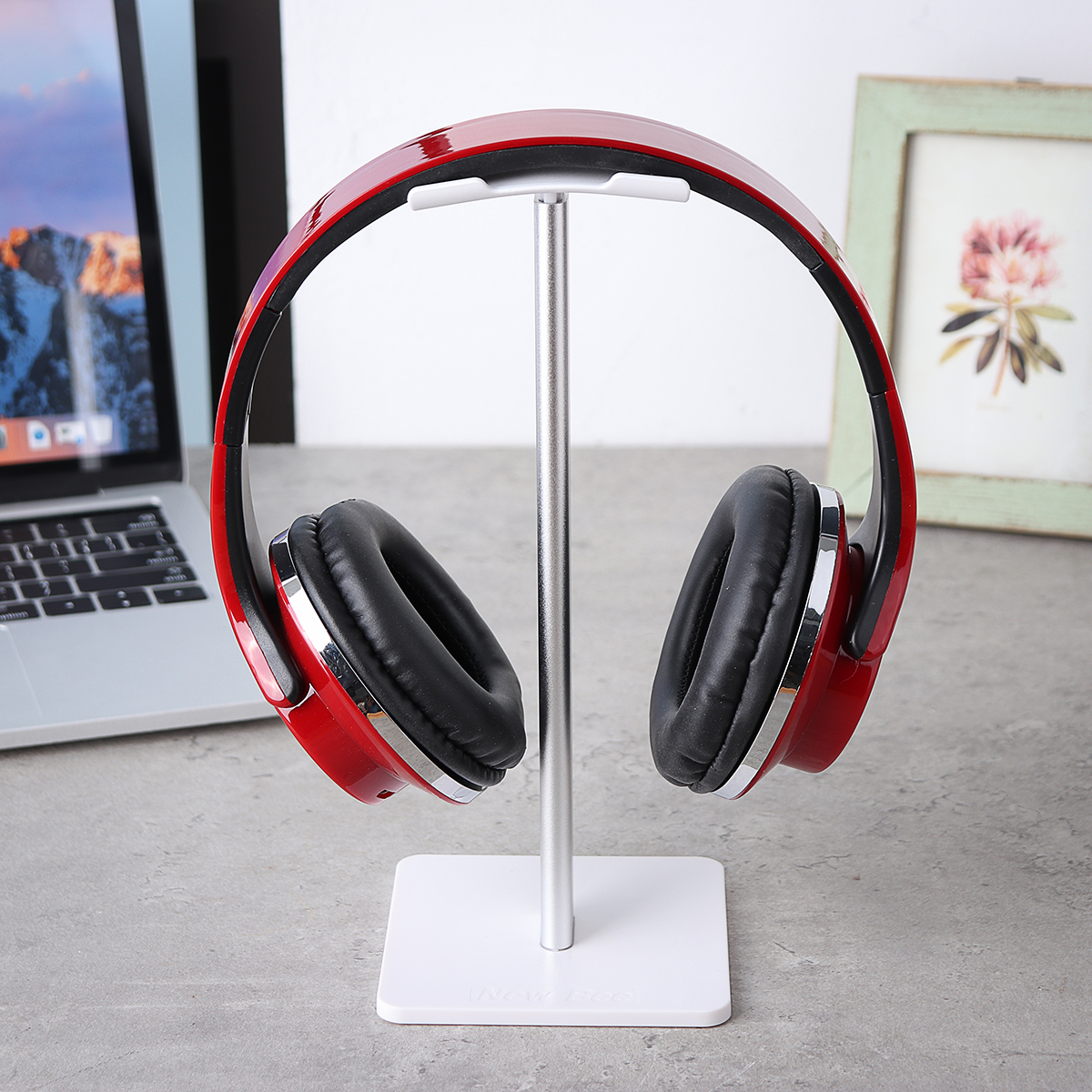 Universal Aluminum Earphone Headset Holder Hanger Headphone Display Stand Mount Bracket