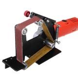 Drillpro Angle Grinder Belt Sander Attachment Metal Wood Sanding Belt Adapter Use 5/8 Inch Thread Spindle Angle Grinder