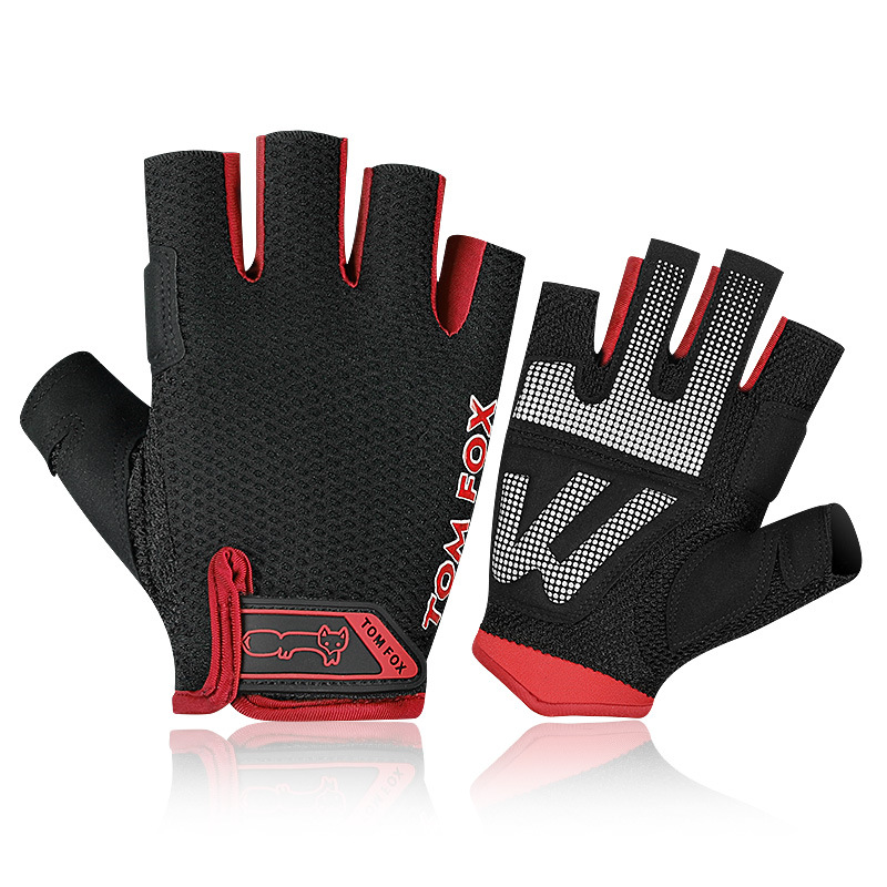 Sports Racing Cycling GYM Lifting Exercise Half Finger Gloves Bike Motorcycle