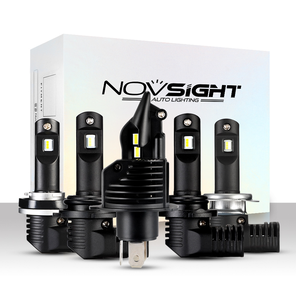 NovSight N20B Car LED Headlights Bulbs Fog Lamps H4 H7 H11 9005 9006 60W 8000LM 6500K White
