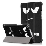 Tri Fold Printing Case Cover for 8 Inch Huawei Honor 5 Tablet Big Eyes