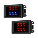 DC 100V 10A Mini Digital Voltmeter Ammeter Voltage Current Meter Tester With Blue /Red Dual LED Display