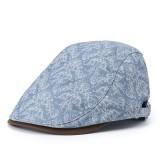 Men Women Print Retro Beret Caps Duck Hat Sunshade Casual Outdoors Peaked Forward Cap