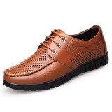 Breathable Hollow Out Microfiber Casual Comfy Soft Oxfords