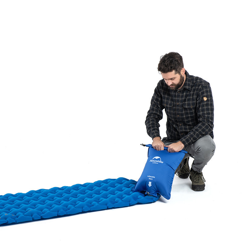 Naturehike NH19Z032-P Inflatable Air Mattresses Moisture Proof Single Mat Sleeping Pad Outdoor Camping