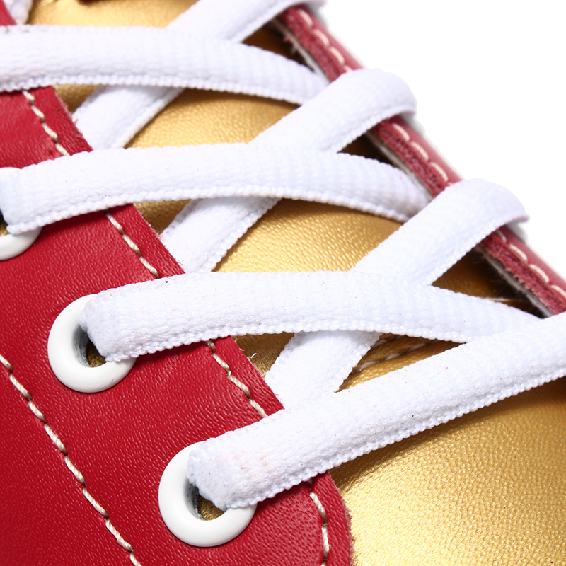 Newly Fashion Women Red Bowling Shoes Leather Shoes Casual Sport Mixed Color Shoes Sneakers