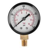 TS-Z52 Pressure Gauge 1/8inch NPT Side Mount 0-200psi 0-14bar Pressure Gauge Dial Air Compressor Meter Hydraulic Pressure Tester Gauge