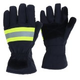 Fire Proof Protective Work Gloves Reflective Strap Fire Resistant Anti-static Safety Gloves for Firefighter
