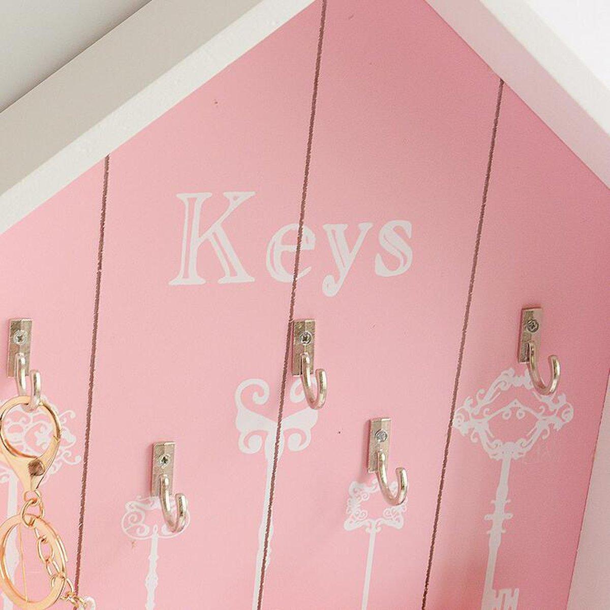 Vintage Parts Storage Box Key Holder Hooks House Hanging  Rack Shabby Chic Wall Mounted Decorations