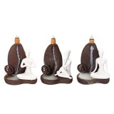 Ceramic Waterfall Backflow Smoke Incense Burner Censer Holder Decorations 10 Cones