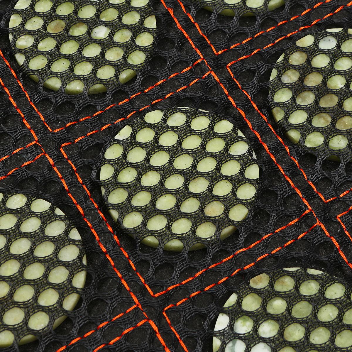 50*150CM Home Natural Jade Manual Massager Stones Negative ion Heating Infrared Mat