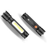WARSUN COB06 10W Mini Torch Light USB Rechargeable Flashlight 18650 Flashlight Tail Magnet 3 Modes Flashlight Camping Hunting Emergency Lamp