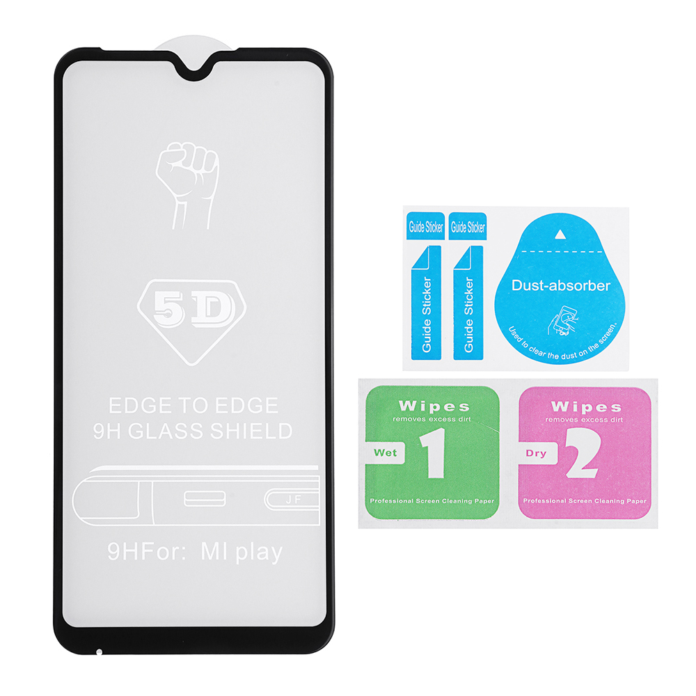 Bakeey 5D Curved Edge Full Cover Anti-explosion Tempered Glass Screen Protector For Xiaomi Mi Play