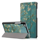 Apricot Blossom Tri Fold Case Cover For 8 Inch Huawei Honor Waterplay HDL-W09 Tablet