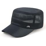 Unisex Outdoor Fishing Hat Sun Visor Sun Flat Hats Breathable Mesh Flat Cap Military Cap