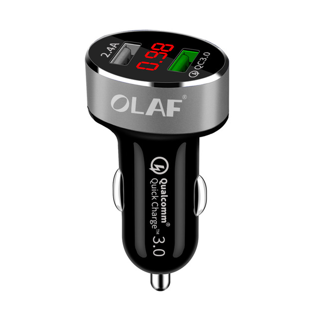 OLAF Car USB Charger Quick Charge 3.0 2.0 Mobile Phone Charger 2 Port USB Fast Car Charger for Samsung Xiaomi Tablet Charger