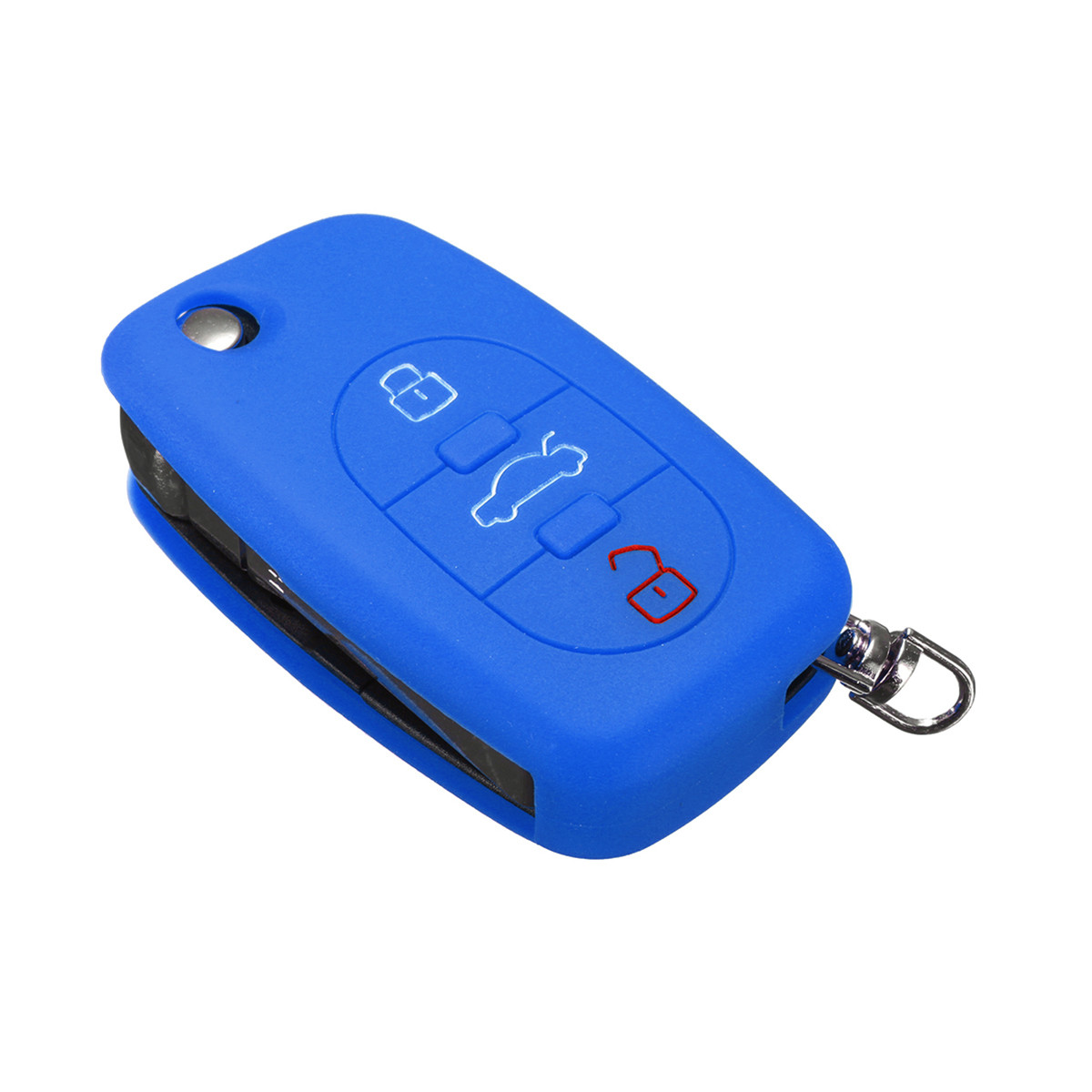 Silicone 3 Button Flip Remote Key Fob Case Cover For Audi A2 A3 A4 A6 A8