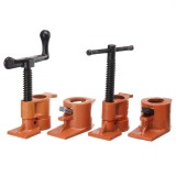 Wood Gluing Pipe Clamp 3/4 Inch Heavy Duty Woodworking Cast Iron Pipe Clamp