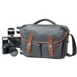 14.17 Inch Vintage Canvas Camera Messenger Bag Leather DSLR SLR Shoulder Bag Waterproof