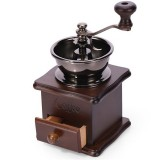 Manual Coffee Bean Grinder Retro Wooden Design Mill Maker Grinders Retro