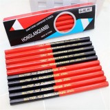 SHANCHENG 038 10 Pcs/lot Wooden Hexagon Red&blue Double Colored Pencils HB Carpenter's Special-purpose Pencils Drawing Painting Pencil Set