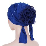 Women Vintage Floral Beanie Hat Summer Ethnic Style Flexible Breathable Turban Cap