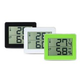 TS-E01 Digital Display Thermometer Hygrometer 0-50 Thermometer Black/White/Yellow-green Desk Thermometer