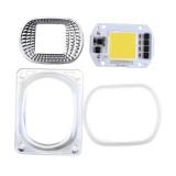 3pcs High Power 50W White LED COB Light Chip with Lens for DIY Flood Spotlight AC220V