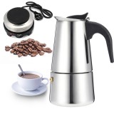 Espresso Moka Coffee Maker Pot Percolator Stainless Steel Electric Stove Electric Coffee Kettle