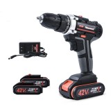 42V 7500MAH Heavy Duty Electric Impact Wrench Screwdriver Cordless Drill Tool With Batteries