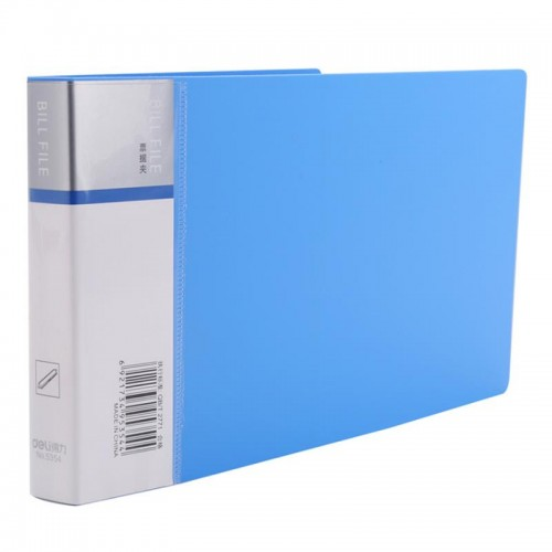Deli 5354 1PCS Bill File Folder Financial Bill Collector A5 Paper Document Folder PP Material Small File Folder Office School Supplies