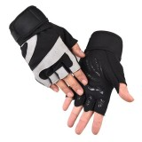 1Pair KALOAD Tactical Glove Cycling Half Finger Unisex Gloves Silicone Anti-slip Breathable Fitness Gloves