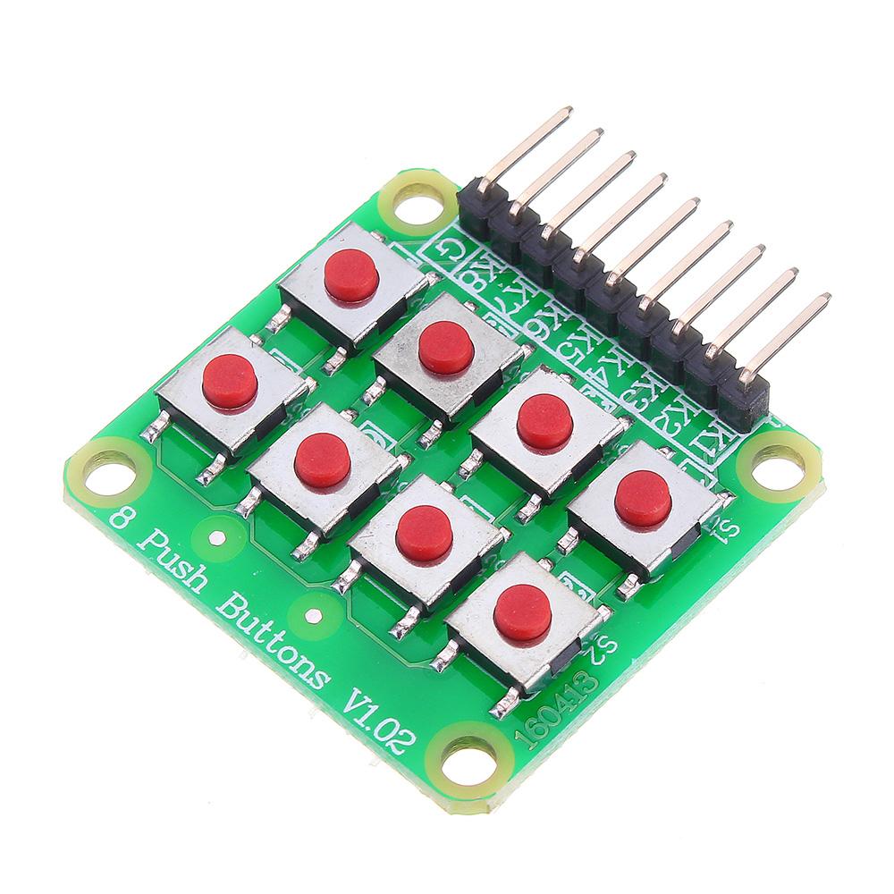 20pcs Micro Switch 2x4 Matrix Keyboard 8 Bit Keyboard External Keyboard Expansion Board Module