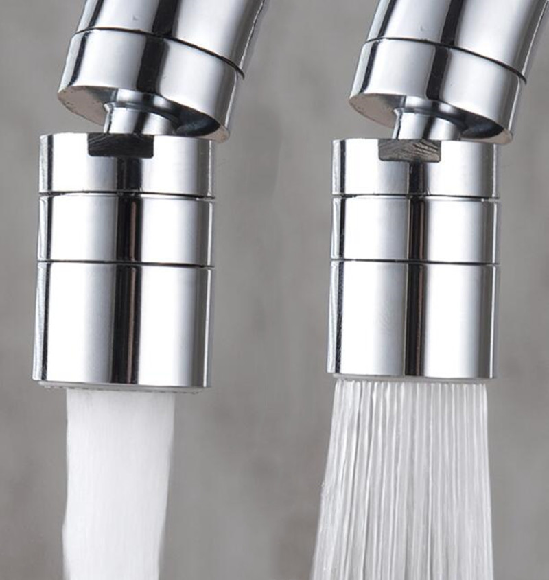 Bathroom Kitchen Aerator Faucet Tap Adapter 2 Flow Water Saving Device