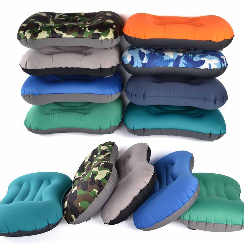 IPRee Outdoor Travel Air Inflatable Pillow Sleep Headrest Neck Massage Folding Cushion