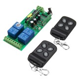 433MHz 220V Four Channel Lamps Remote Control Switch 4CH Wireless Remote Control Switch Learning Code Module