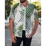 Mens Summer Hawaiian Shirts Short Sleeve Casual Fashion Printing Shirts