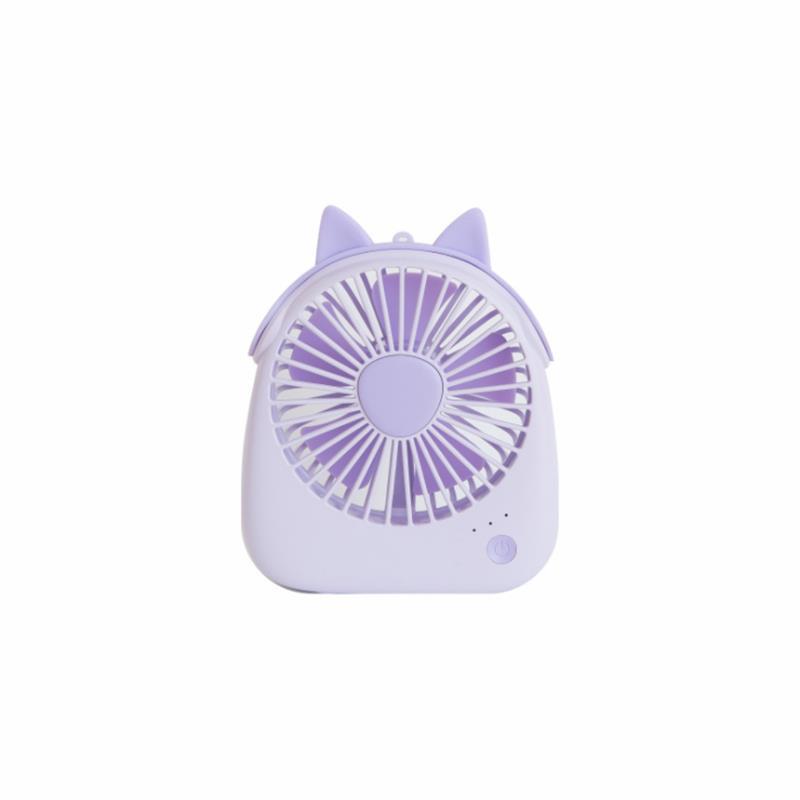 Well Star WT-F14 Portable Handheld Mini USB Fan Chargeable Desktop Air Cooling Fan With Lanyard Desk Mini Fan Dual Use Home Student Portable Desktop Office Fan