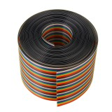 5M 1.27mm Pitch Ribbon Cable 50P Flat Color Rainbow Ribbon Cable Wire Rainbow Cable