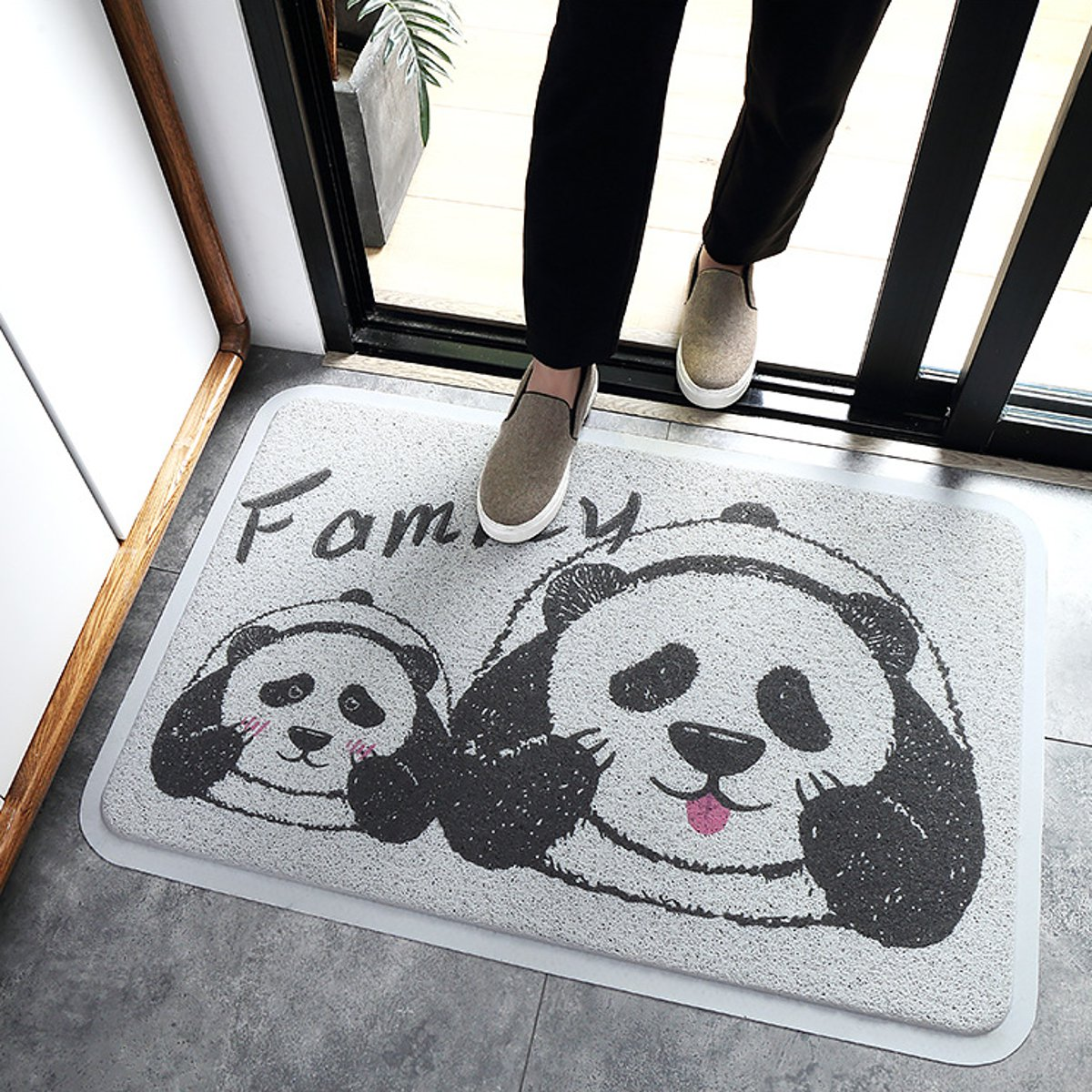 Animal Floor Mat Anti-slide PVC Wire Area Panda Rug Mug Door Carpet Home Decorations